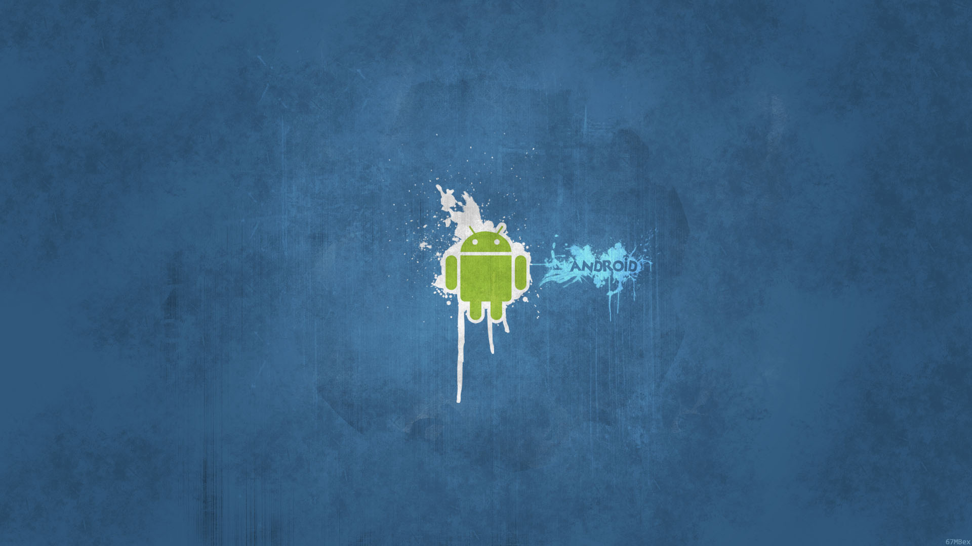 Android Azul