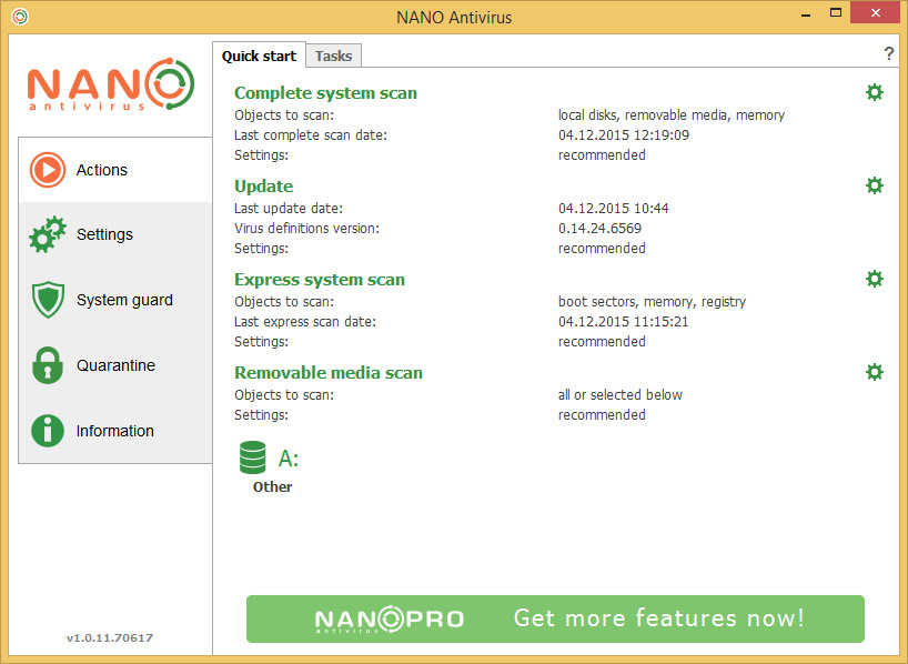 NANO-Antivirus-screenshot